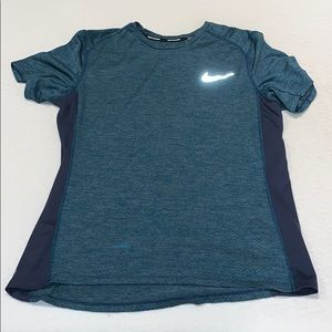 Nike Running Dri Fit Shirt Navy L